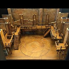 Packing up the @HamiltonMusical model & thought I'd show a not so common view of the design.