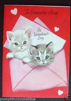 40 Best Kittens And Puppies Images Valentine Cards Vintage