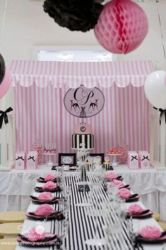 Parisian Poodle Party Backdrop by hamandpea Paris Birthday Parties, 10th Birthday, Birthday Party Themes, Spa Birthday, Birthday Ideas, Party Kulissen, Party Time, Party Ideas, Shower Party