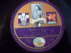 """Rare item for Royal Fans with very low Special Price:-)  2nd 78rpm springtimeauction 78rpm with many Raritys :-)  !!! Low Startprice !!! Worldwide shipping !!!  H.R.H. THE PRINCE OF WALES """"Sportmanship"""" Gramophone rarest photo label 78rpm"""
