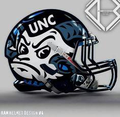 North Carolina Tar Heels Football Helmet
