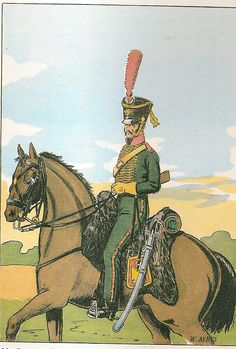 French; 27th Chasseurs a Cheval(Les Chevau-Legers du duc d'Arenberg), Trooper as per a Recruitment Affiche in 1806