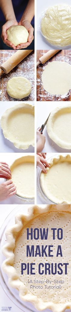 Check out this step-by-step photo tutorial—easy instructions on how to make an easy and delicious pie crust!