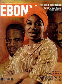 Ebony Magazine. Betty Shabazz. June 1969.