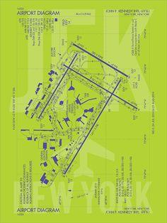 JFK New York Airport Diagram - JFK Airport Code