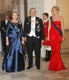 Queen Anne-Marie, King Constantine II and Princess Theodora of Greece and Denmark