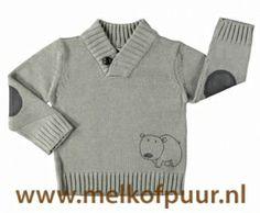 LOSAN baby gray sweater with collar skipper // Jersey gris para niño
