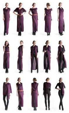 Convertible Clothing travel wear clothing YAY Gladiolus Convertible Travel Dress scarves and wraps Convertible Clothing, Convertible Dress, Dress Outfits, Cool Outfits, Travel Dress, Travel Wear, Scarf Dress, Infinity Dress, Diy Fashion