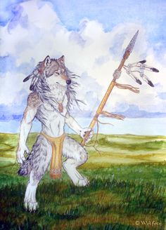 This is the next piece for my wolves of North America project. This is Canis lupus nubilus, the Great Plains wolf. Native American Wolf, Werewolf Art, Great Plains, Anthro Furry, Character Inspiration, Character Art, Werewolves, Furry Art, Fantasy Art