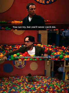 The ball pit has got to be my favorite Sheldon scene. 17 Perfect Sheldon Cooper Moments From 'The Big Bang Theory' The Big Theory, Big Bang Theory Funny, Leonard Hofstadter, Funny Memes, Hilarious, Funny Quotes, Funny Pics, Stupid Memes, Memes Humor