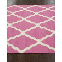 nuLOOM Moroccan Trellis Flatweave Kilim Pink Wool Rug (5' x 8') - Overstock™ Shopping - Great Deals on Nuloom 5x8 - 6x9 Rugs