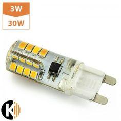Żarówka LED G9, 32xSMD 2835, 3W, biała ciepła