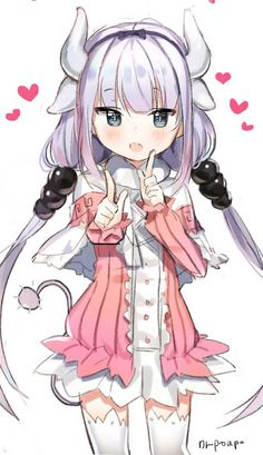 Kanna Kamui, Kobayashi-san Chi no Maid Dragon Anime Chibi, Lolis Anime, Anime Maid, Chica Anime Manga, Miss Kobayashi's Dragon Maid, Dragon Girl, Loli Kawaii, Kawaii Anime Girl, Anime Girls