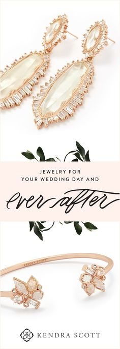 your wedding day look elegant and unforgettable. Jewelry for brides, bridesmaids, mothers of the bride and groom, cufflinks for him and more. Celebrate your ever after with the Kendra Scott Bridal Jewelry Collection. Shop our Weddings Collection today! Wedding Day Jewelry, Bridal Jewelry Sets, Wedding Earrings, Bridesmaid Jewelry, Wedding Accessories, Bridesmaids, Bridal Jewellery, Wedding Gifts, Groom Cufflinks