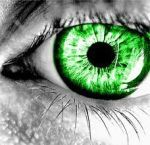 Lime Green Eye by cRaZyKATTT