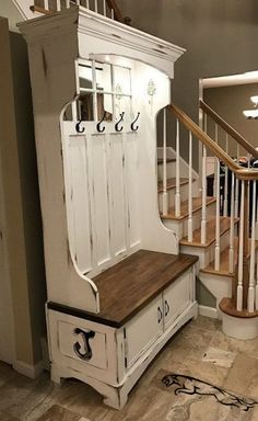 ideas apartment entryway ideas bench hall trees Entryway Furniture: Do Not Neglect Yo Door Hall Trees, Entryway Hall Tree, Hall Tree Bench, Entryway Ideas, Entrance Ideas, Entryway Bench Coat Rack, Rustic Hall Trees, Door Bench, Entrance Hall