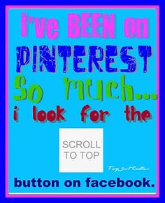 scroll to top button #Pinterest