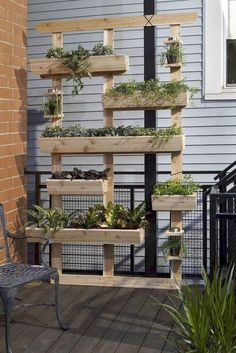 Stunning Vertical Garden for Wall Decor Ideas Do you have a blank wall? the best way to that is to create a vertical garden wall inside your home. A vertical garden wall, also called… Continue Reading → Vertical Garden Planters, Vertical Garden Design, Herb Garden Design, Vertical Gardens, Diy Planters, Planter Ideas, Planter Boxes, Outdoor Wall Planters, Vertical Plant Wall