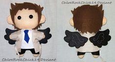 Castiel plushie - Commission by ~ChloeRockChick14 on deviantART