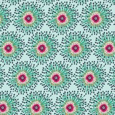 Clover Field (prs-212) PRIORITY SQUARE by Katy Jones for Art Gallery Fabrics - 1 yard    Horizontal repeat: 4.5 inches, Vertical repeat: 2.5 inches