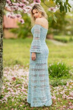 Vestido Ombro a Ombro Lia Azul
