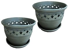 Cheap ToolUSA 9 Diameter Lattice-work Ceramic Planter With Water Tray: GC-D3014-9-Z02 : ( Pack of 2 Planters ) https://ledgrowlightsreviews.info/cheap-toolusa-9-diameter-lattice-work-ceramic-planter-with-water-tray-gc-d3014-9-z02-pack-of-2-planters/