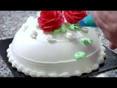 Quenary Academy - Clay Art Cream Cake Decoration DEMO - Advanced 5 - YouTube