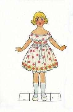 Vintage Paper Doll! by Lisa Kettell, via Flickr