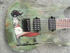 Painted Guitar- by Mike Shinoda