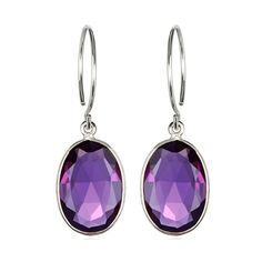 Catalina Oval Earring Violet Silver