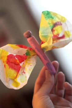 A butterfly craft for the kids to make