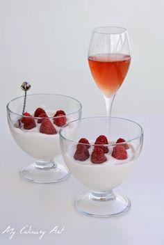 My Culinary Art: Syllabub na różowym winie z malinami