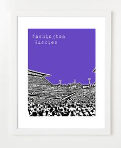 Washington Huskies Poster  University of Washington by birdAve, $20.00
