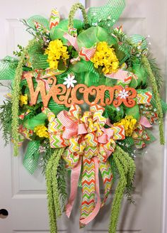 Welcome Spring/Summer Wreath on Etsy, $119.00