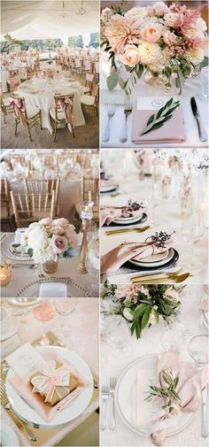 elegant gold and pink wedding table setting ideas #weddingdecor #weddingideas #weddingcolors