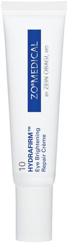ZO Medical Hydrafirm.  Eye Brightening Repair Creme.  If you have puffiness, dark circles or wrinkles this is an awesome product to have. Start off slow... 2-3 times a week at night....I'm finally using it every night! This product will repair your eyes!