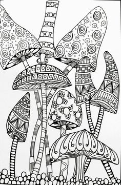 The 93 Best Mushrooms Toadstools Coloring Pages For Adults Images