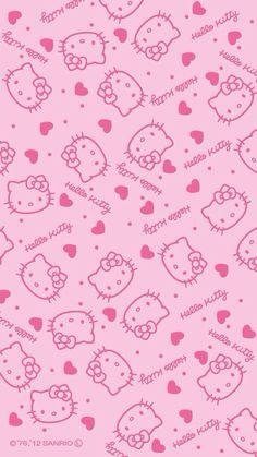 Hello Kitty Wallpaper For iPhone wallpaper. Sanrio Wallpaper, Pink Wallpaper Iphone, Cat Wallpaper, Kawaii Wallpaper, Aesthetic Iphone Wallpaper, Pattern Wallpaper, Trendy Wallpaper, Wallpaper Wallpapers, Wallpaper Ideas
