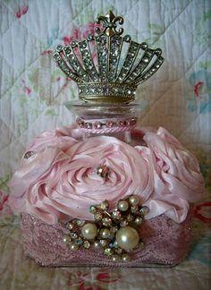 Pink perfume bottle, posted via missingsisterstill.tumblr.com