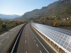 photovoltaic noise barrier  autostrada Brennero Italy
