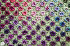 Crochet Pattern Monet's Garden Throw Afghan by FeltedButton