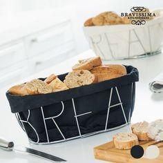 """Μεταλλική  ψωμιέρα σε 2 χρώματα """"Bravissima kitchen""""Τέλεια ψωμιέρα για να σερβίρετε το ψωμί και να δώσετε μια κομψή πινελιά στο τραπέζι.Διαθέτει αποσπώμενο  κάλλυμα που σας επιτρέπει να το βγάζετε και να το πλένεται.Έρχεται σε δύο χρώματα, μαύρο & μπεζ για να επιλέξετε  αυτό που σας ταιριάζει!&n"""