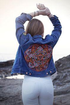 Gypset denim jacket kuchi banjara by Lemonfaceshop on Etsy