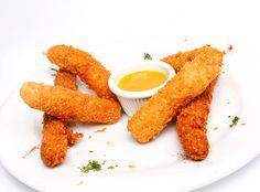 Daditos de pollo #fitness empanizados con maiz crocante ¡Saludables y deliciosos!