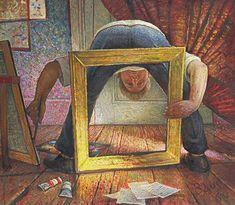 Auseklis BAUŠKENIEKS | Latvian | Jelgava, Latvia 1910—Riga, Latvia 2007.  Self-Portrait, 1969