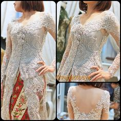 Kebaya - Indonesia Vera Kebaya, Batik Kebaya, Kebaya Dress, Modern Kebaya, Indonesian Kebaya, Beautiful Dresses, Nice Dresses, Kebaya Brokat, Coral