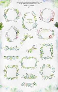 Ideas for flowers wreath drawing gold - Paper pretties, dresses, wrappings, flowers - Pattern Illustration, Watercolor Illustration, Watercolor Pattern, Watercolor Flowers, Wreath Drawing, Sell My Art, Gold Paper, Leaf Flowers, Floral Illustrations