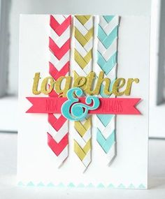 Now & Always Paper Braids Card by Betsy Veldman for Papertrey Ink (September 2013)