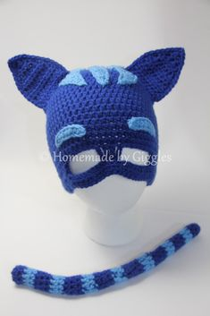 Catboy-Inspired Hat and Tail – Homemade by Giggles Crochet Animal Hats c48f1de49839