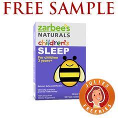 Free Sample of Zarbee's Naturals Children's Sleep